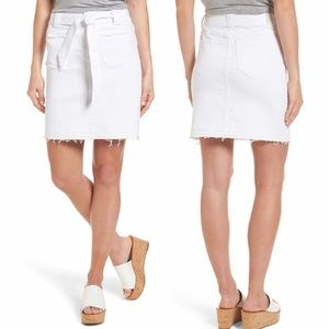 Caslon | Belted Skirt Belted Release Hem White